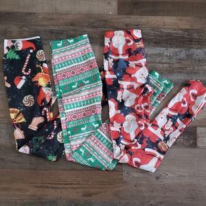 3 pair of juniors size xs 1 Christmas leggings